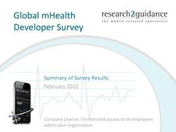 Global mHealth Developer Survey Result Summary 2011-16