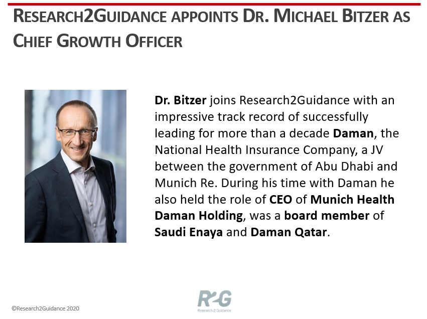 Dr. Michael Bitzer Chief Growth Officer At R2G