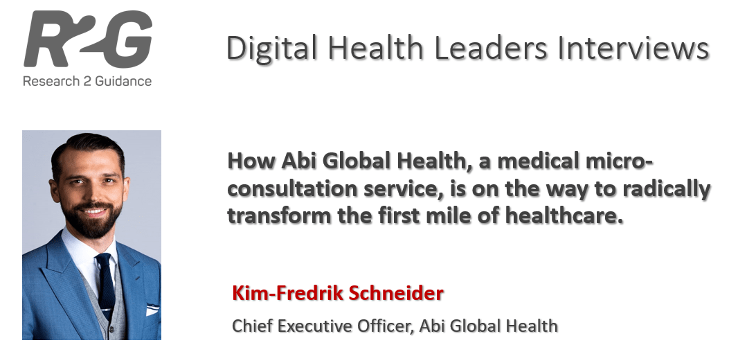 R2G Digital Health Leaders Interview with Kim-Fredrik Schneider, CEO