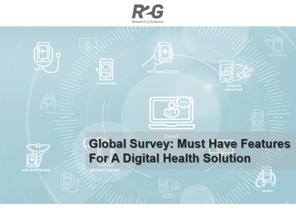 R2G Global Survey: Must have features for a digital health solution